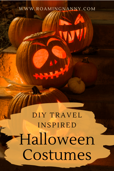 Get dressed up this Halloween and share your love of travel with these DIY travel inspired Halloween costumes. #halloween #travelinspired #halloweencostumes