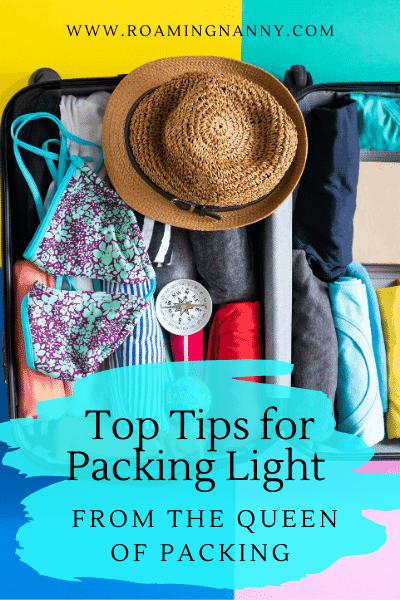 Packing light can be a challenge for newbies and seasoned travelers alike. Here are the top tips for packing light from the Queen of Packing.