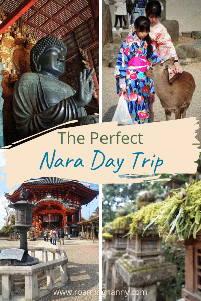 Less than an hour by train from both Kyoto and Osaka, the awe-inspiring historic city of Nara makes the perfect day trip is a great idea from either city. #nara #visitnara #naradeer #explorejapan