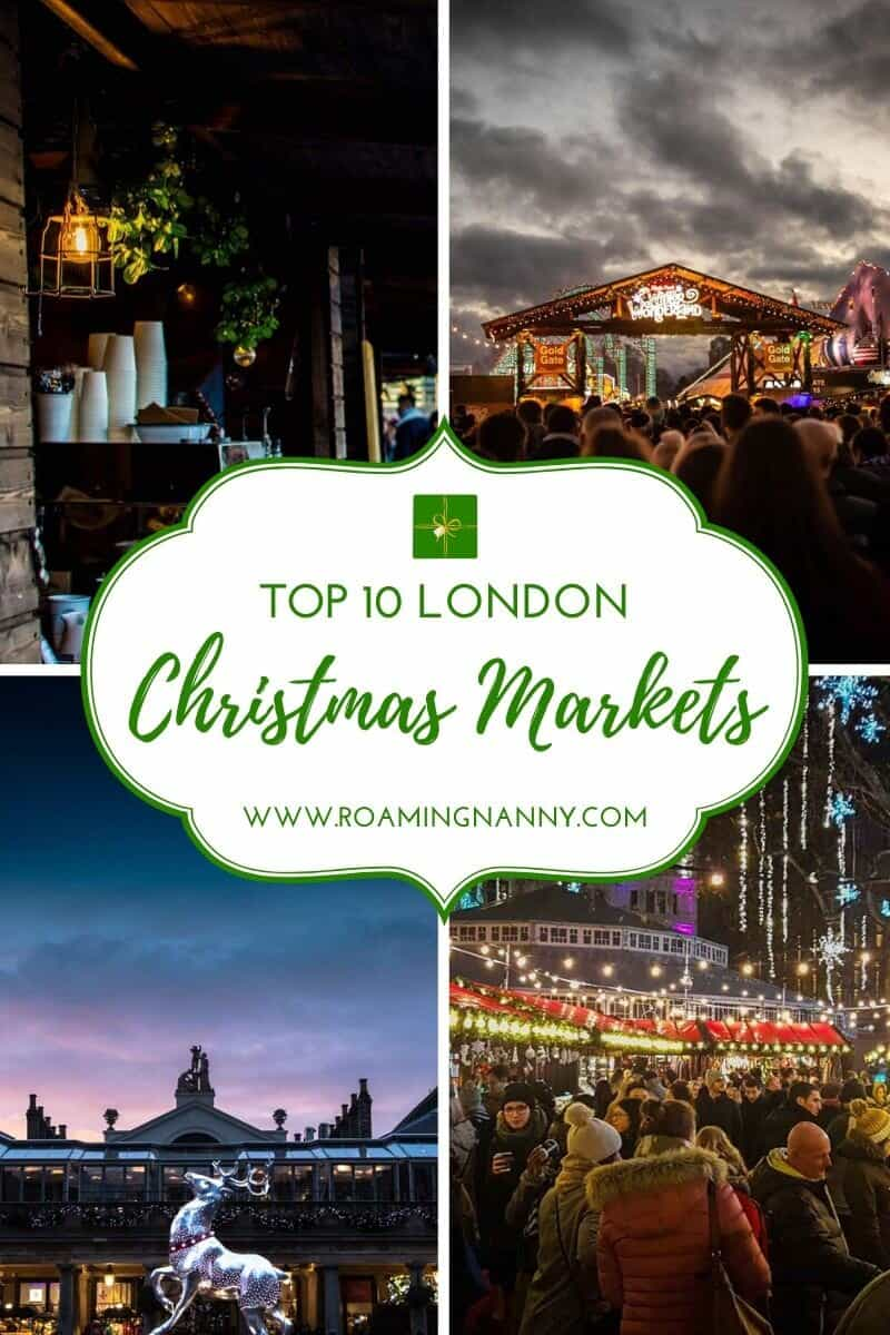 London at Christmas time is magical! Check out these must visit London Christmas Markets. #winter #london #visitlondon #christmasmarkets #christmas #europe #londonchristmasmarkets