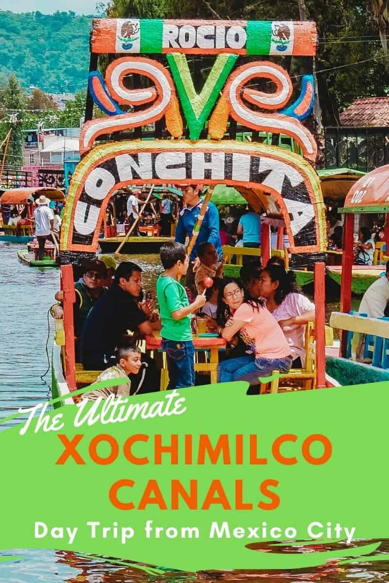 Visiting the ancient Xochimilco canals just outside of Mexico City makes a perfect day trip #daytrip #Xochimilcocanals #Xochimilco #mexico #visitmexico