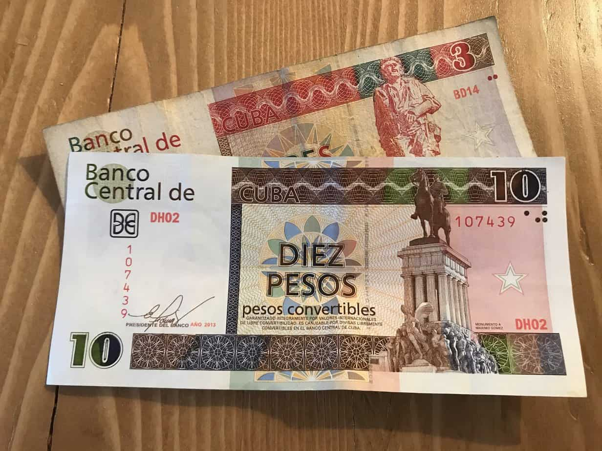 common scams in cuba - cuban convertible pesos