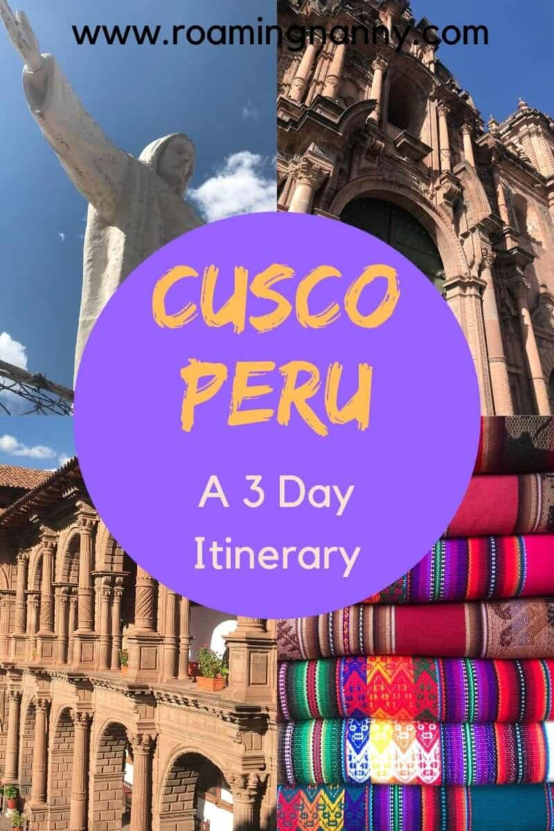 Cusco, Peru is full of history, delicious food, and plenty of adventure. This 3 day itinerary is the perfect jumping off point for exploring the Sacred Valley and Machu Picchu. #cusco #peru #cuscoperu #visitperu