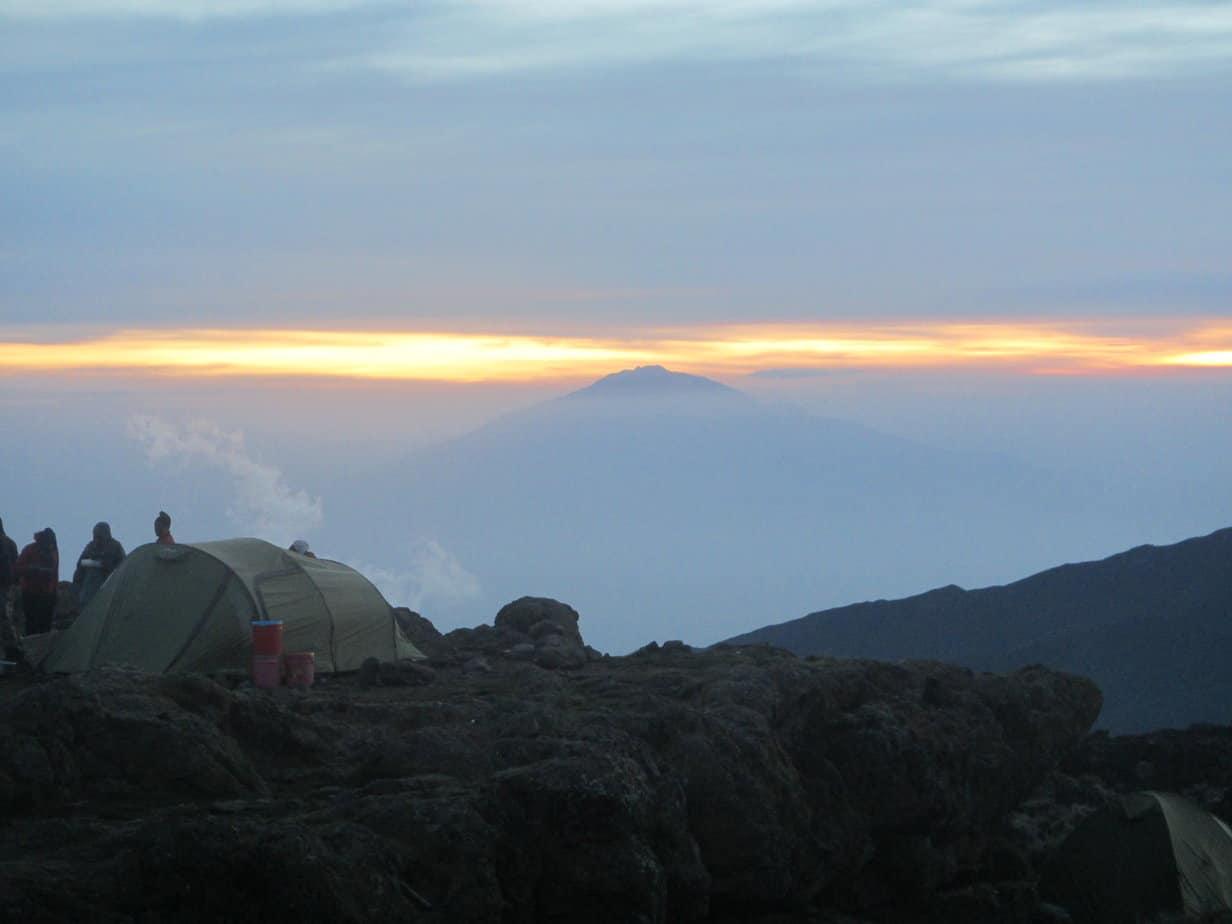 Hiking Mount Kilimanjaro: Day 2 A view of Mount Meru