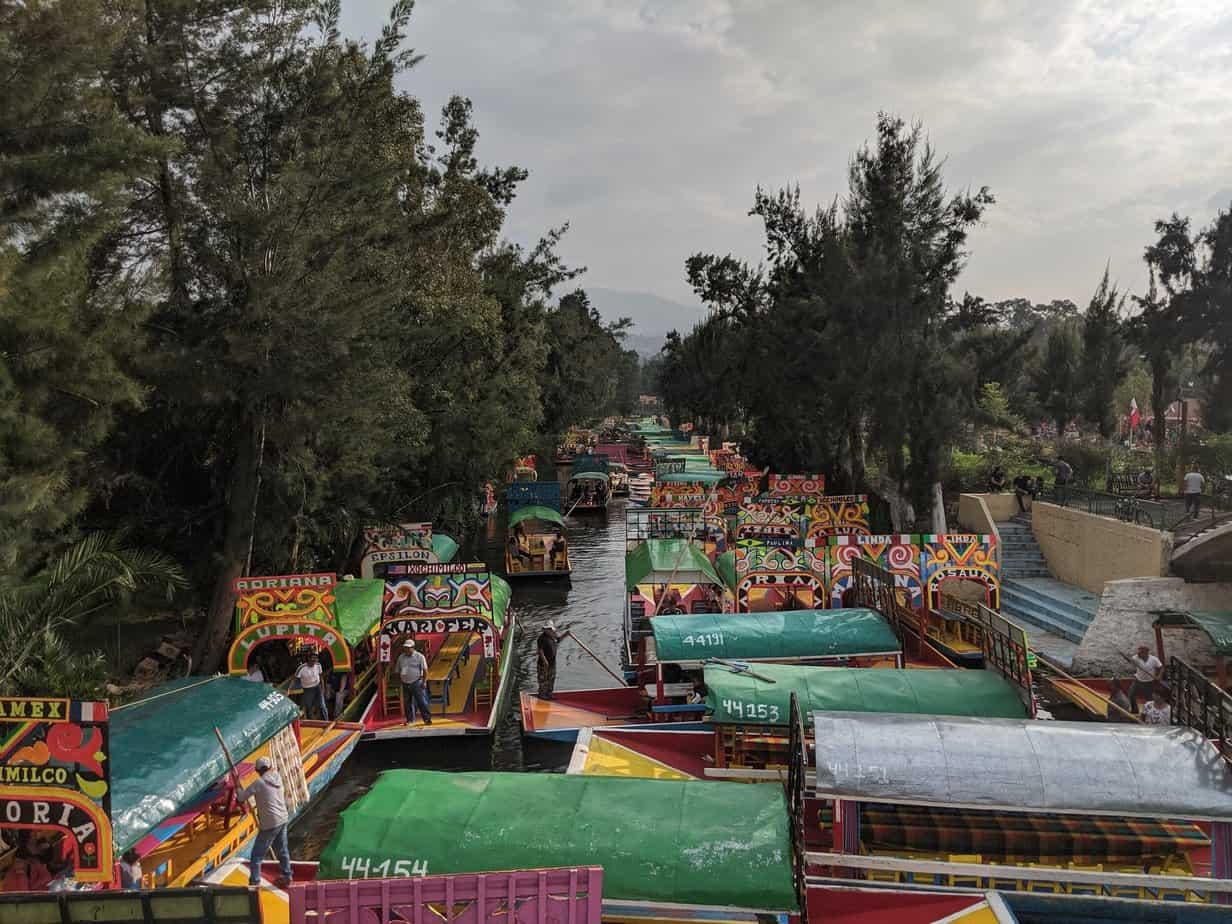 Xochimilco canals and trajineras