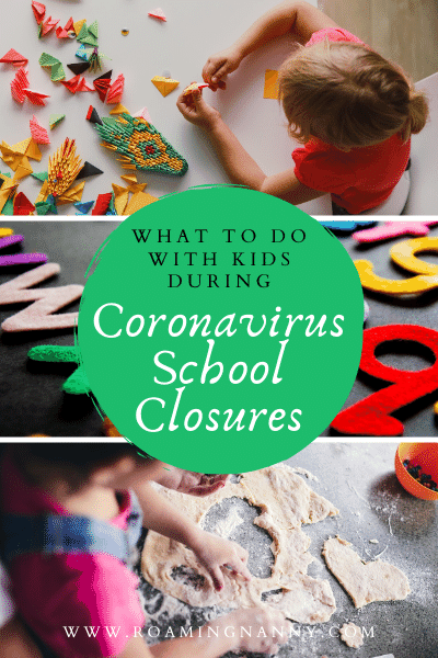 School Closures do to Coronavirus are going to impact the daily lives of families everywhere. Here are some things do to with kids to help keep them happy and learning.