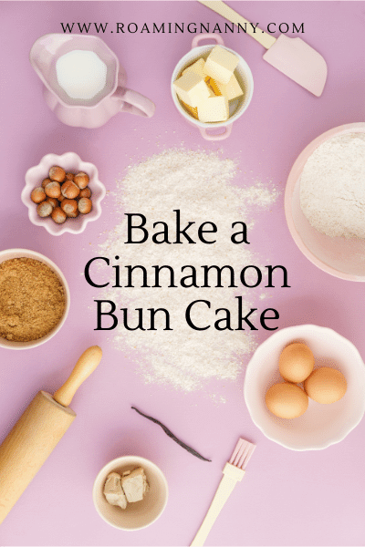 Baking a cinnamon bun cake is a great activity for kids of all ages. And it's delicious!