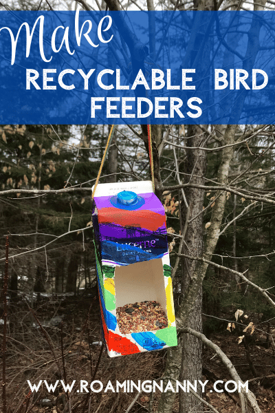 Welcome Spring and make your own recyclable bird feeders! Kids will have fun and the birds will love stopping by your house again and again.