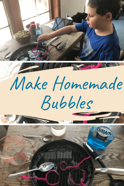 What kid doesn't like bubbles? I know I do! Making your own homemade bubbles adds a little chemistry because if you don't mix it just right you won't be able to blow and bubbles.