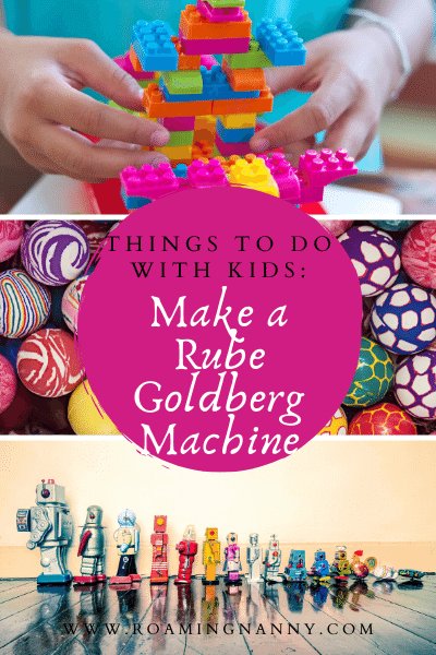 Great creative and have fun at the same time by building a Rube Goldberg Machine. Have the kids gather together plenty of materials and get building!