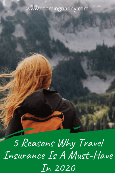 When traveling it's important to purchase travel insurance. Here are 5 reasons why it is a must have in 2020 no matter where you're headed.