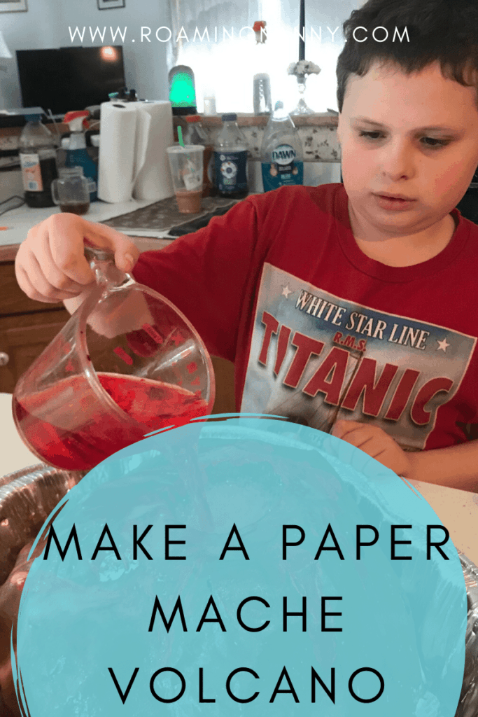 Prepare to get messy and make a paper mache volcano that erupts! Kids will have a blast making this multi-step project and learn about volcanos too.