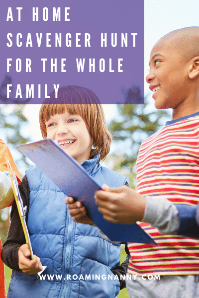 This at home scavenger hunt will get the entire family laughing and having fun with smiles from ear to ear.