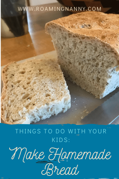 Making homemade bread is fun for the whole family. With minimal ingredients that is a must make treat and it will make your house smell amazing!