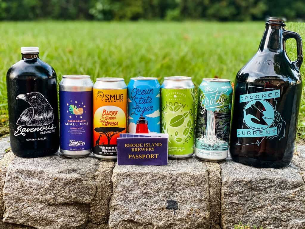 beer jugs and cans in a row - things to do in new england